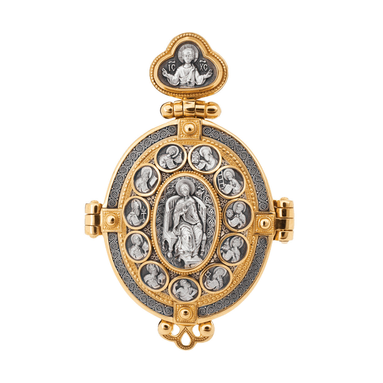 Diptych Icon Pendant PRAISE BE TO THE MOTHER OF GOD