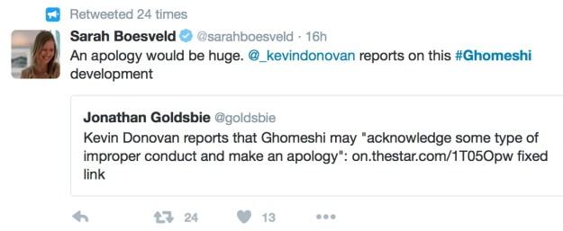 Jian Ghomeshi Tweet 1