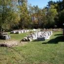 Bundles of foundation rocks - Foye Cabin