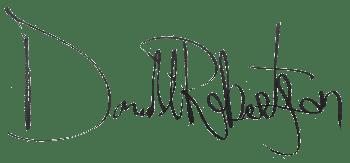Donald Robertson Signature