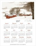 2017 Jenne Farm one page calendar