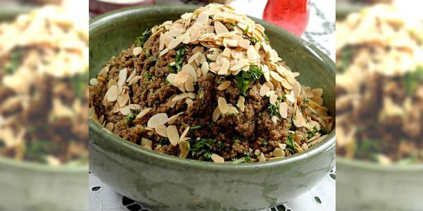 Salada de Tâmara com Coalhada Seca e Garam Masala