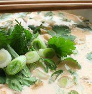 Sopa Tailandesa de Leite de Coco