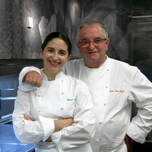 Juan Mari Arzak e Elena Arzak Espina em Arzak