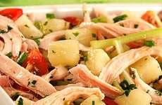 Salada de Peito de Peru Defumado Refrescante