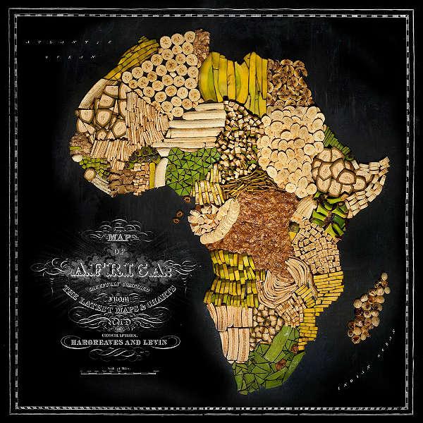 Mapa com Comida Típica de Cada Região África
