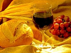 Trigo e Uva ou Pão e Vinho, Símbolos de Corpo e Sangue de Cristo