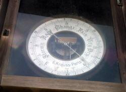 アネロイド気圧計の文字盤