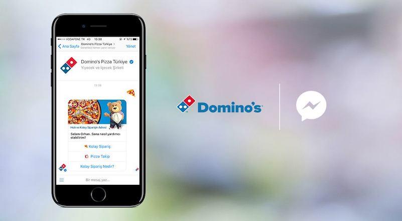 Dominos Pizza Siparişi Alan Facebook Messenger Türkiyede