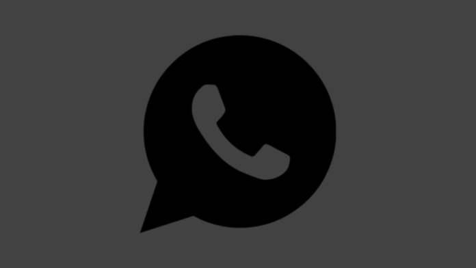 WhatsApp siyah tema