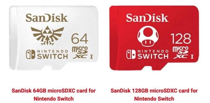 Nintendo Switch için microSD