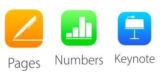 Pages, Numbers ve Keynote