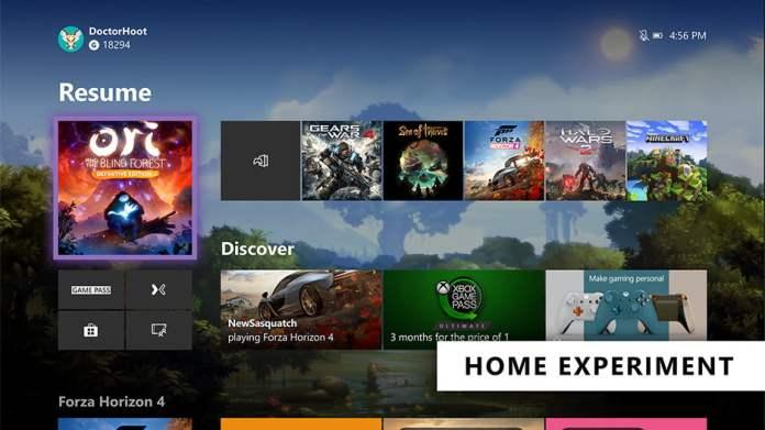 Xbox One arayüzü