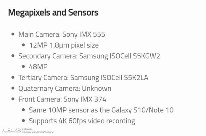 Galaxy S20 Plus kamera