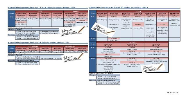 M.INF.03.01 Calendário de provas finais e exames nacionais