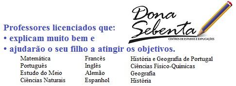 Explicações e apoio ao estudo em Braga Dona Sebenta 2
