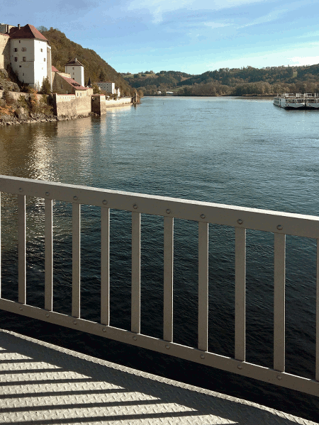 Ruta ciclista del Danubio Passau Viena Puente Prinzregent-Luitplod Passau