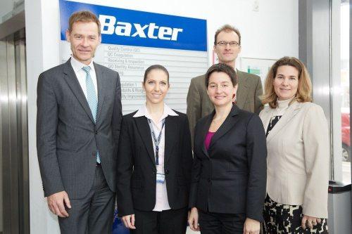 GesundheitsstadtrŠtin Wehsely besucht Baxter