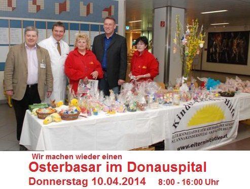 Wir machen wieder einen Osterbasar im Donauspital 10.04.2014 08.00-16.00