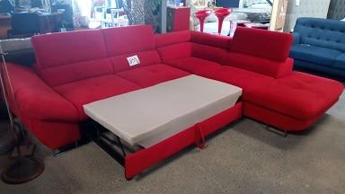 ofa chaise longue cama rojo
