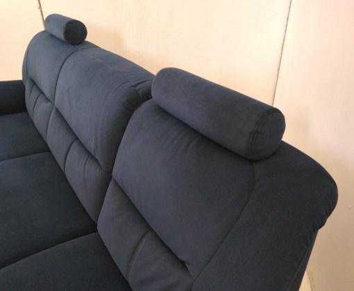 Reposacabezas y respaldos de sofá con chaise longue - Claudia