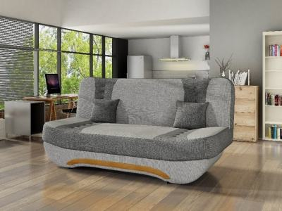 Compact Folding Sofa - Olivia. Light grey and grey fabrics - 11
