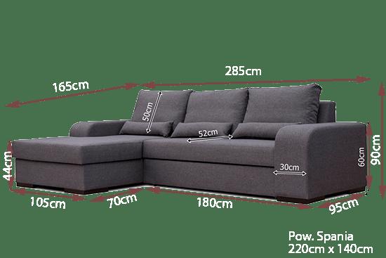 Sof chaise longue cama gris bahamas don baraton tienda de sof s colchones y muebles - Medidas de sofas chaise longue ...