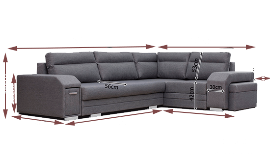 Large Corner Sofa With Pouffe Pull Out Bed Storage Aruba Don