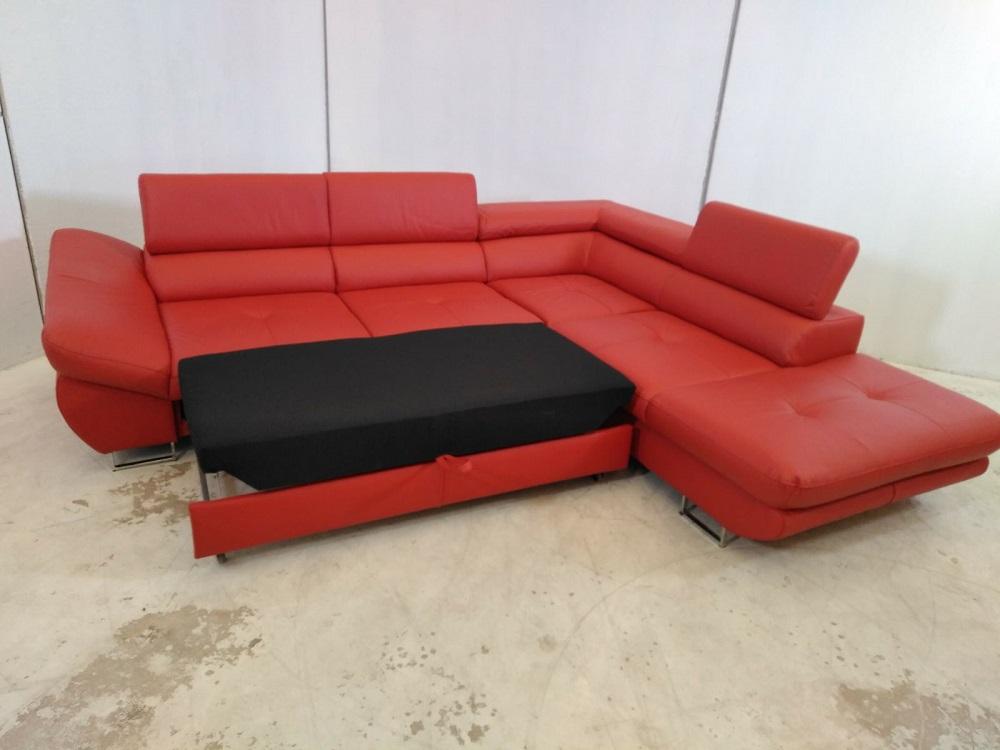 Fabio leather corner sofa for Sofa piel esquinero