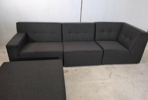 Sofá 3 plazas de conjunto grande de sofás modulares de 3 y 2 plazas más 2 pufs – Modules