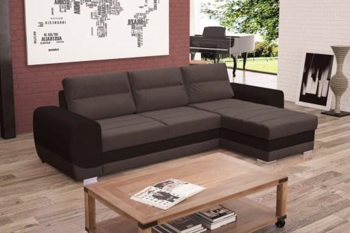 Серый диван-кровать с шезлонгом (правый угол) - Cayman