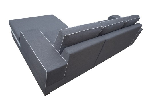 Outer Backrest Upholstered. Chaise Longue Sofa Bed with Storage - Bermuda