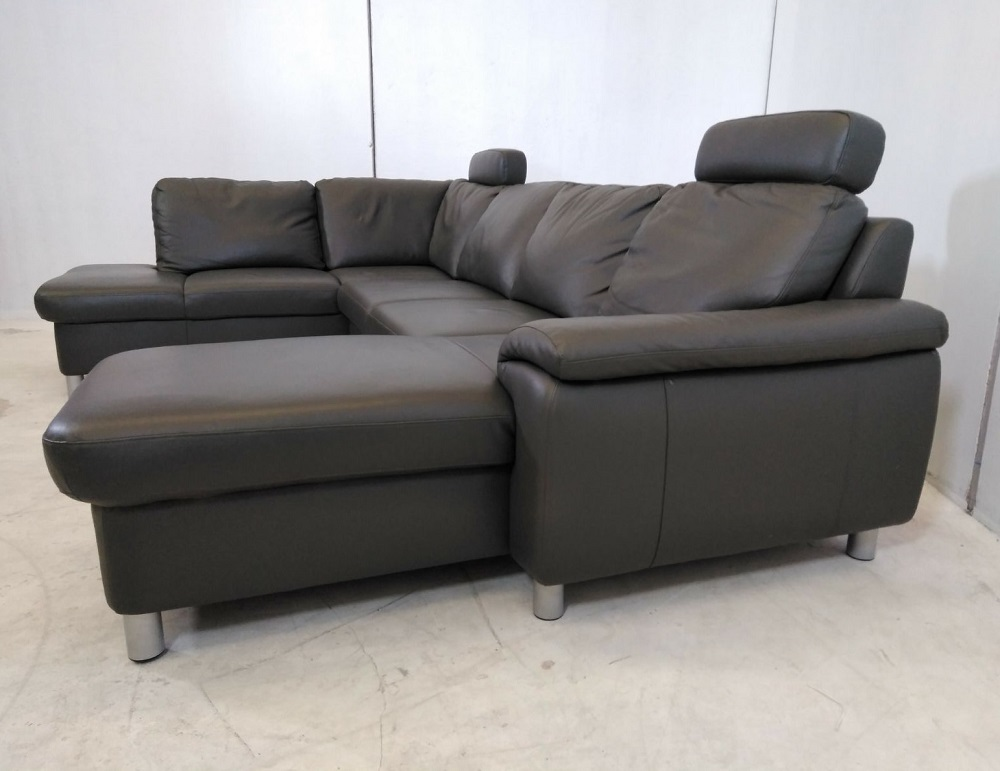 Large ex display u shaped real leather sofa dylan don for Sofa actual