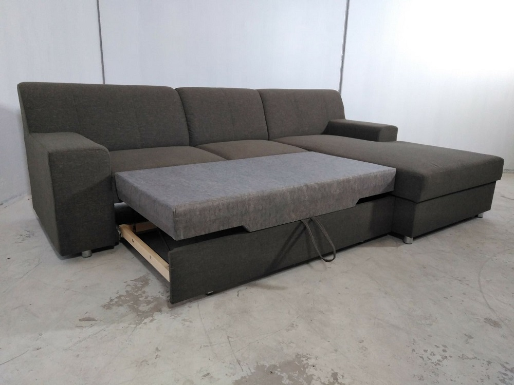 Sofa bed with chaise longue and storage diego don baraton for Oferta sofa cama chaise longue