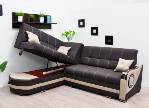 Arcón grande de sofá rinconera - Modena