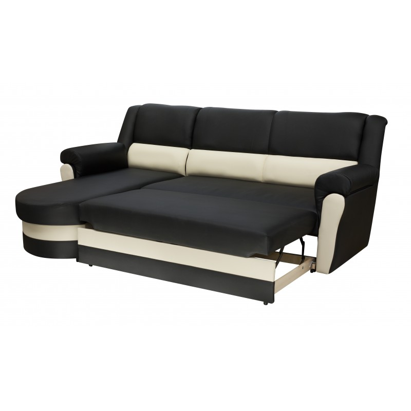Chaise longue sofa bed with high backrest - Parma