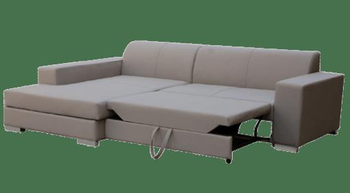 Раскладная кровать. Светло-серый диван-кровать с шезлонгом - Maldives