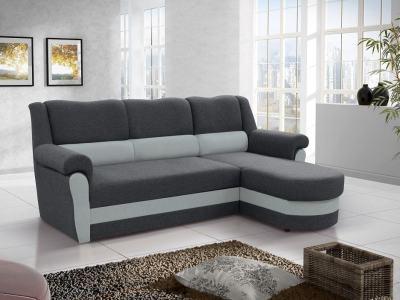 Диван-кровать с высокой спинкой серого цвета (правый угол) - Parma