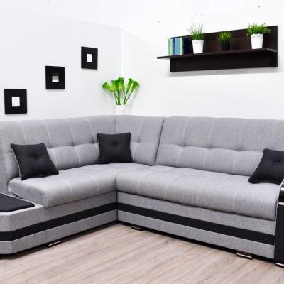 Sofá rinconera cama gris con 2 arcones. Esquina izquierda - Modena