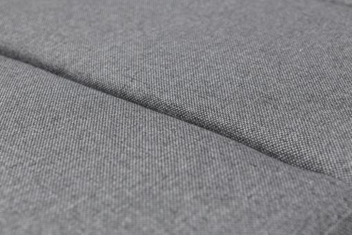 Прочная ткань светло-серого цвета. Диван-кровать с большим шезлонгом - Caicos