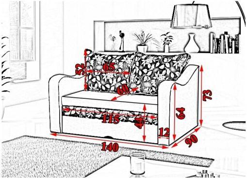 Medidas. Pequeño sofá cama - Trieste