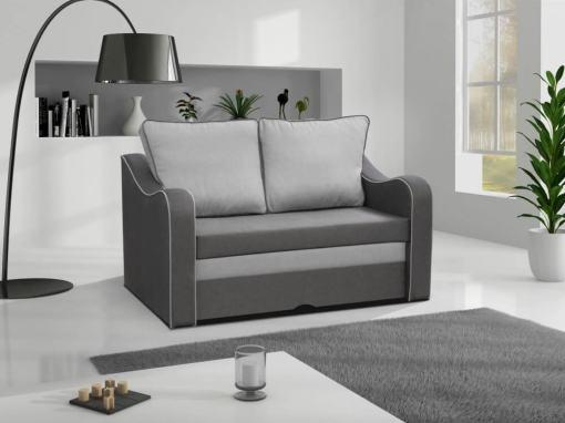 Pequeño sofá cama en color gris - Trieste