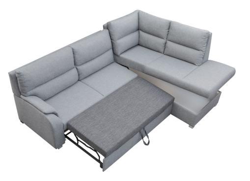 Storage Compartment. Corner Sofa Bed with Open End - Crete