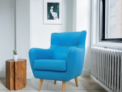 Upholstered Designer Buttoned Chair - Stockholm