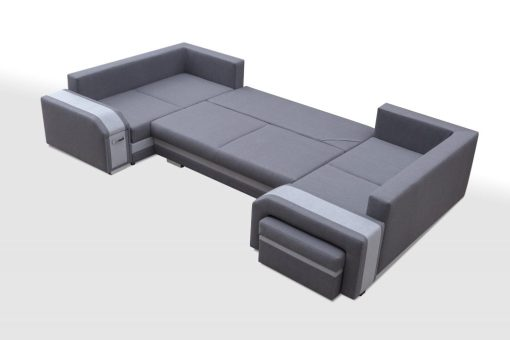 Unfolded into Bed. Spacious U-shaped Sofa Bed with 3 Storages - Baia