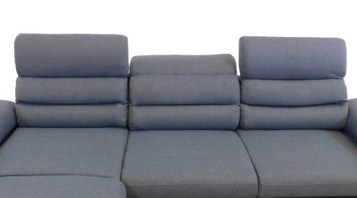 Reposacabezas reclinables. Sofá chaise longue cama con arcón y reposacabezas reclinables - Capri