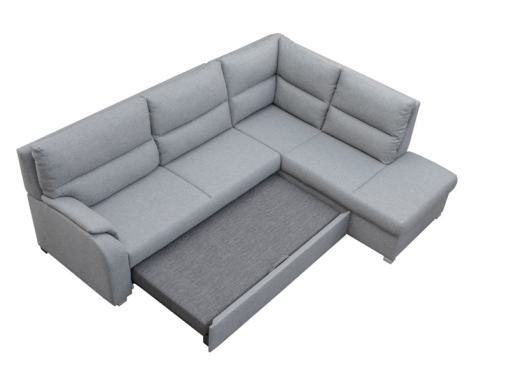Bed Opening System. Corner Sofa Bed with Open End - Crete