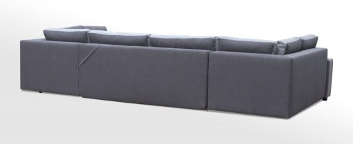 Outer Backrest Upholstery. Spacious U-shaped Sofa Bed with 3 Storages - Baia