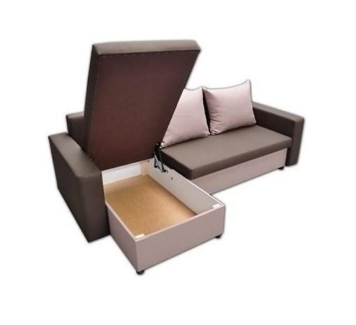 Открытое отделение для хранения. Раскладной диван-кровать с двумя ящиками для хранения - Turin