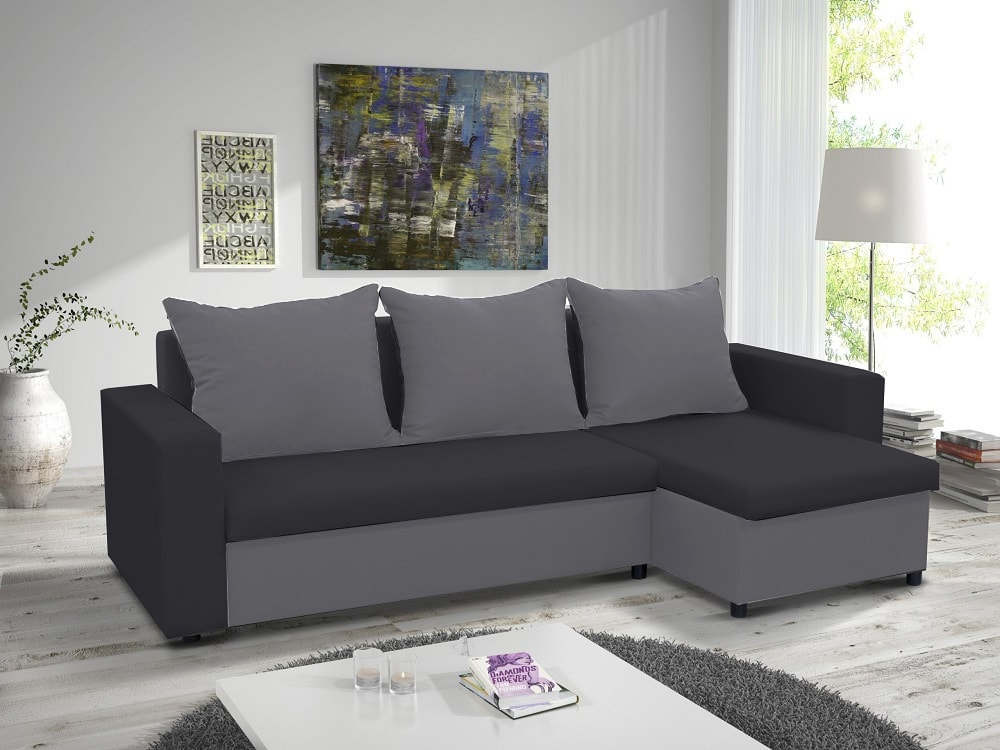 Chaise Longue Sofa Bed With 2 Storage Compartments Turin Don
